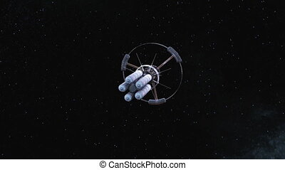 Man-made satellite - image of man-made satellite