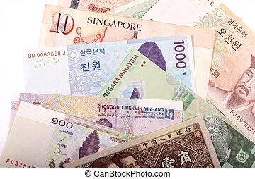Asian banknotes