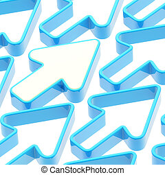 Abstract background made of arrows