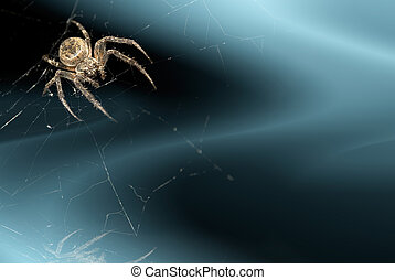 background with spider - abstract dark blue background with...