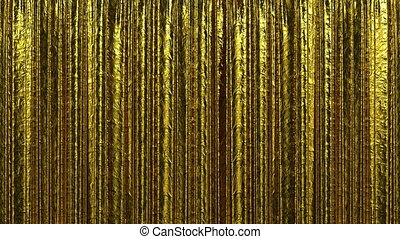 Gold curtain, Opening and closing - Highly detailed 3d...