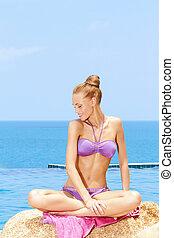 Gorgeous Woman In Bikini