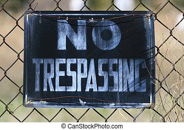 No Trespassing, Period! - Close up of a no trespassing sign...