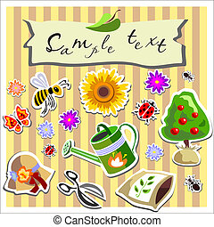 gardening scrapbook elements - different gardening scrapbook...