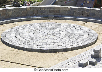 Circle Paver Design - Paving Circle Paver Design in the...