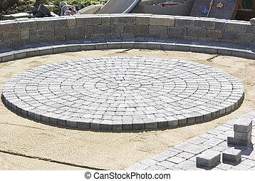 Circle Paver Design - Paving Circle Paver Design in the...