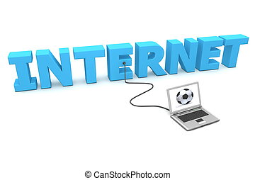 Laptop Wired to Internet