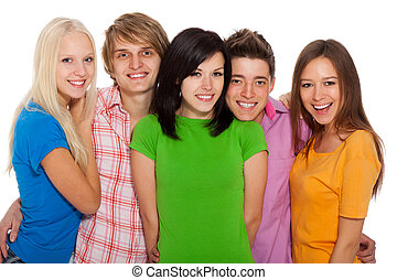 group of people - group of young people students happy smile...