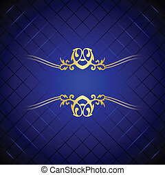 Vector blue and gold background - Vector blue gold...