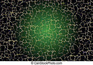 Green texture with gold cracks