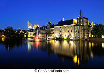 Binnenhof buildings of the Dutch Government in the Hague -...
