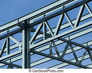 acciaio, costruzione, cornice