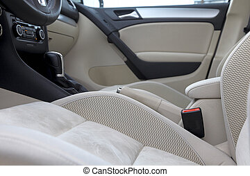 Inside of luxury car. - Abstract photograph of modern luxury...