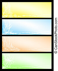 Set beautiful seasonal banners - Vector set from four...