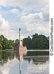 Chesme Column in Tsarskoye Selo. St.-Petersburg. Russia.