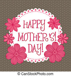 happy mother?s day, cute background. vector illustration