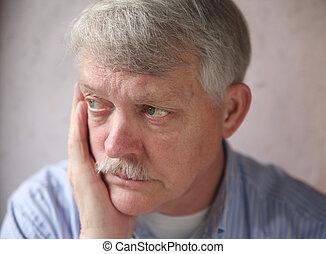 senior man worries