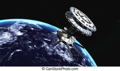 Man-made satellite - man-made satellite and earth