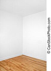 Empty corner of a room with wooden floor - Empty corner of a...