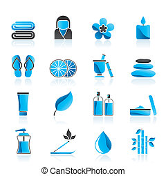 Spa objects icons - vector icon set