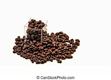 Group of chocolate beans