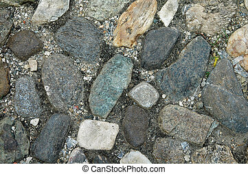 nautral stone pavement - colorful natural stone pavement
