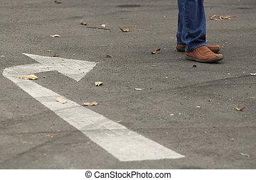 Walking in the street