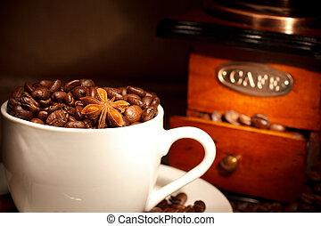 コーヒー, 粉砕機\, 背景