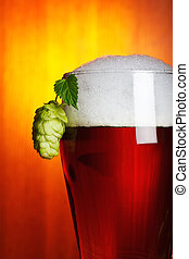 beer and hop closeup