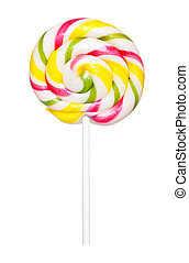lollipop isolated on white
