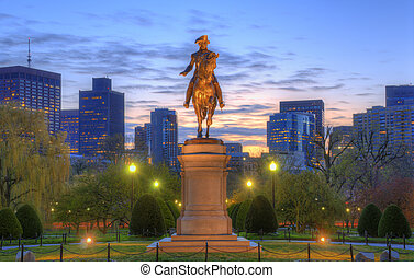 Boston Public Garden - George Washington Equestrian Statue...