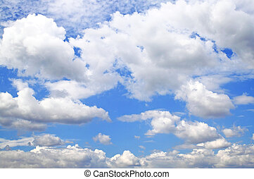 clouds and clear blue sky