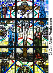 Crucifixion of Jesus Christ stained glass window