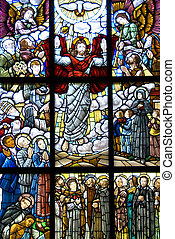 Risen Jesus Christ - Stained Glass window of the risen Jesus...