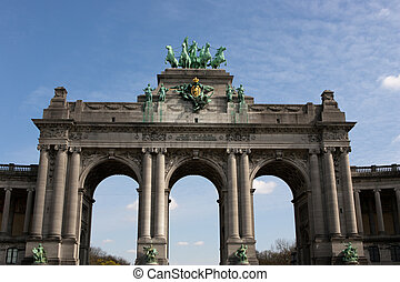 The Triumphal Arch in Brussels - The Triumphal Arch Arc de...