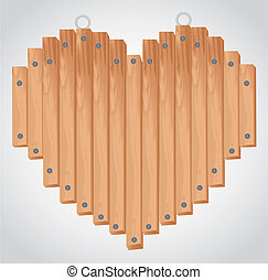 heart wood board with grommets for hanging