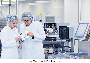 medical factory and production indoor - medical pills...