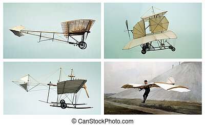 Air transport collage - This photograph represent a collage...