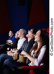 Laughing people - People laugh at the cinema