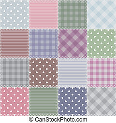 Patchwork background with different