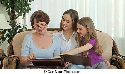Family photo books - Grandmother and her granddaughters...
