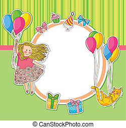 birthday doodles - frame decorated with birthday doodles