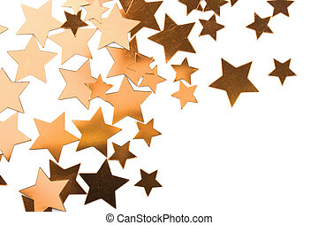 holiday golden stars isolated
