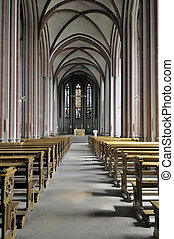 Church inside - This photograph represent a view over the...