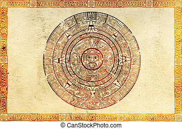 Maya prophecy on ancient parchment