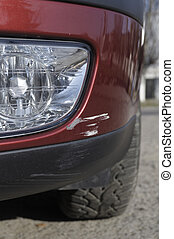 Damaged Car - Scratch - This photograph represent a scratch...