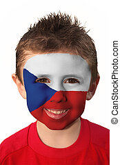 Face Paint - Czech Republic - Young boy with Young Boy with...