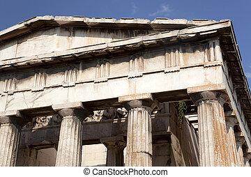 templo, Hephaestus, -, atenas