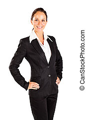 happy young business half length portrait