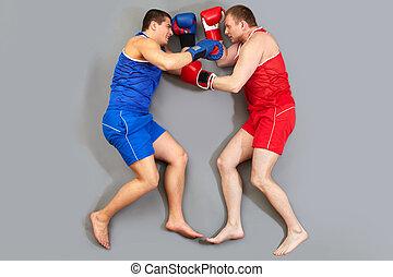 boxe, chão